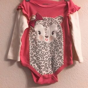 ❤️Weeplay  Lamb On Pink Romper Size 6/9 Months